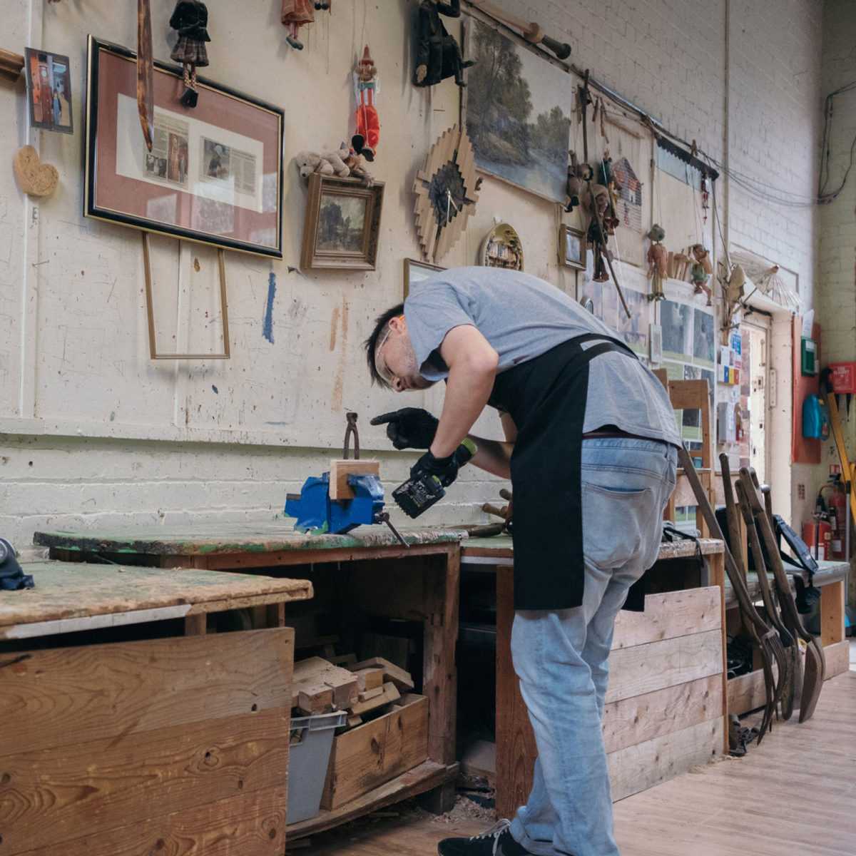 working man saw tools prison