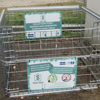 Drop Off Crate for Old Garden Tools